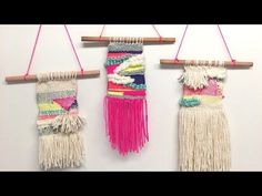 DIY Macrame Tutorial: Beginner Wall Hanging Diamond with Crafty Ginger Wall Hanging Crafts, Woven Wall Hanging, Diy Wall Art, 3d Wall, Best Engagement Gifts, Macrame Tutorial, Boho Diy, Loom Weaving, Weaving Techniques