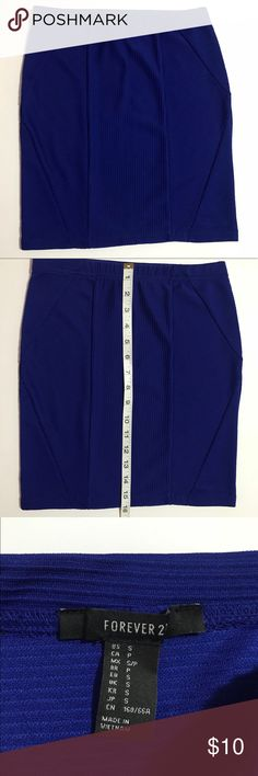 Forever 21 skirt F21 Royal blue skirt never worn in great condition. Size small. Forever 21 Skirts Midi