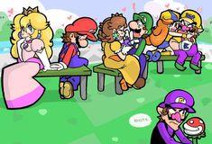 mario and peach luigi and daisy Princesa Daisy, Princesa Peach, Nintendo Game, Nintendo World, Mario Fan Art, Super Mario Art, Luigi And Daisy, Mario And Luigi, Luigi Bros