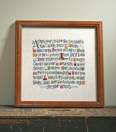 Lizzie Kate  ABCs of Parenting counted cross by thecottageneedle, $32.00