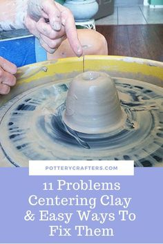 11 Problems Centering Clay and Easy Ways to Fix Them - Pottery Crafters The problem for every new potter is Centering. From personal experience I have identified 11 Problems Centering clay and 11 Proven Ways to Fix Them Ceramic Techniques, Pottery Techniques, Ceramic Clay, Ceramic Pottery, Slab Pottery, Ceramic Bowls, Hand Built Pottery, Beginner Pottery, Pottery Lessons