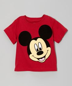 Take a look at this Red Mickey Tee - Infant & Toddler on zulily today!
