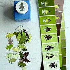 all washi tapes: Great idea for punching paint chips Holiday Crafts, Fun Crafts, Crafts For Kids, Arts And Crafts, Ideias Diy, Theme Noel, Paint Chips, Crafty Craft, Paper Crafting