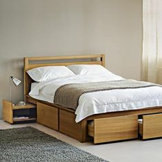 Frame black double bed