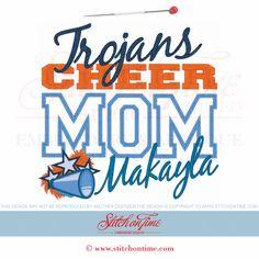 122 Cheerleader : Cheer Mom Applique 8x12 Cheer Shirts, Cheer Mom, Sport Girl, Cheerleading, Machine Embroidery, Embroidery Designs, Applique, Sewing, Girls