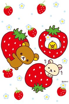 Rilakkuma with strawberries Kawaii Shop modes4u.com