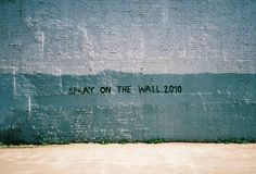 spray on the wall
