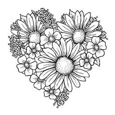 Cling stempel | Heart of blossoms