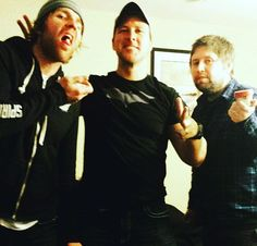 Dean Ambrose with a friend and Renee's brother