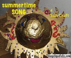 #Summer song & sun craft / Filastrocca d'estate & lavoretto del sole @ http://AngeliqueFelix.com