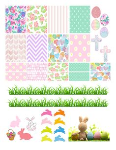 FREE Printable Sticker Kit @ planner.PICKETT: Easter
