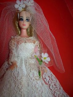 Vintage Topper Dawn Doll 1960's Dressed Wedding Gown Veil Shoes | eBay..