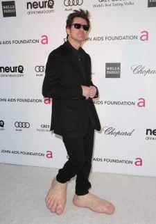 Jim Carrey's barefoot shoes.