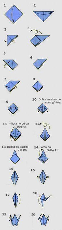 How to make origami crane. Used to be so good at these.