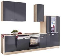 Flex-Well Küchenzeile ohne E-Geräte 150 cm L-150-1004-000 Nepal ...