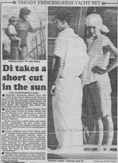 August 1986 Charles and Diana holiday in Spain