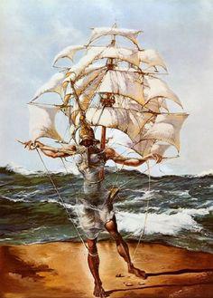 © Salvador Domènec Felip Jacint Dalí - La nave (1943)