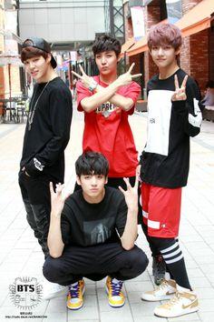 Jimin, J-Hope, Jungkook, and V