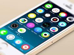iOS7 Clean Circle UI Concept - http://www.welovesolo.com/ios7-clean-circle-ui-concept/