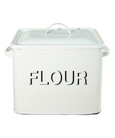 White 'Flour' Box With Lid by VIP International #zulily #zulilyfinds
