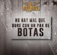¿Tienes algún problema o algo que te estrese? ¡No te preocupes! Unas botas #Rudel te lo quitan #LaBotaDelÁguila