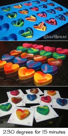 25 Trendy Crayon Art Diy Crafts For Kids Valentine Day Crafts, Holiday Crafts, Valentine Heart, Kids Valentines, Saint Valentine, Thanksgiving Crafts, Crafts To Make, Easy Crafts, Creative Crafts