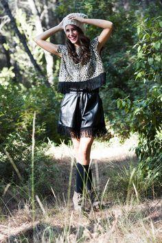 Marilena : Galilani Top - Elu Shorts / Photo by : Theo Vranas