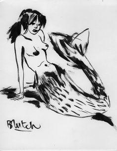 Sirène par Blutch, 1998 Encre de Chine sur papier