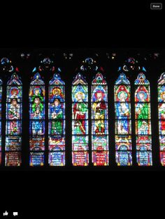 Stained glass Cathedral  France
