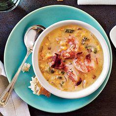 Bacon-Corn Chowder with Shrimp | CookingLight.com