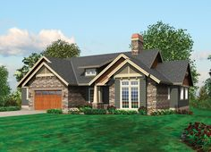 Attractive Plan with Outdoor Patio - 69086AM | Craftsman, Northwest, 1st Floor Master Suite, CAD Available, Media-Game-Home Theater, PDF, Sloping Lot | Architectural Designs