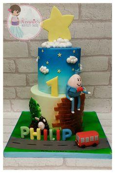Nursery Rhymes Birthday Cake humpty dumpty, twinkle twinkle little star, the wheels on the Bus