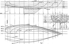 Lines of round bilge sailboat hull Model Ship Building, Boat Building Plans, Sailboat Plans, Boat Projects, Wood Boats, Boat Stuff, Nautical Design, Boat Design, Model Ships