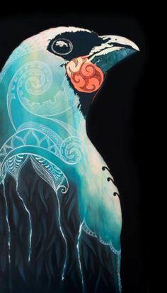 Grey Ghost Fine Art Print featuring a kōkako by New Zealand Artist Sofia Minson Artwork Prints, Fine Art Prints, Poster Prints, Maori Designs, New Zealand Art, Maori Art, Acrylic Painting Canvas, Painting Art, Sculpture Art