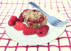 Raspberry Oat Crumble Bars (V/GF) - Summer berry squares perfect for a snack or an after dinner treat.