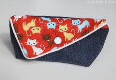kuka and bubu: miau meow miau (2): Sunglasses case – Funda para gafas de sol