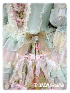 138★305 Scarlet ~Primavera Waltz Dress~ Baby, the Stars Shine Bright ☆Mint green x Lame pink x Mint green x Off white x Pink x Yellow x Ivory lace x Beige x Gold $1,270.00