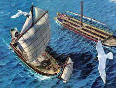 Roman Merchant Ship and War Galley.