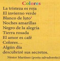 Les quichotteries de Delphine : poema para trabajar los colores