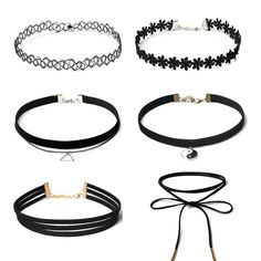 8Pcs Set Collares Stretch Tattoo Choker Necklace Punk Retro Gothic Black  Velvet Rope Necklaces For Women Christmas Gifts 8Pcs Set Collares Stretch  Tattoo ... 7627716531f5
