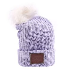 34e192fd530 Light Purple Pom Beanie – Love Your Melon Love Your Melon Hats