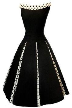 Aprils 50s Rockabilly Classy Black Vintage Swing Evening Cocktail Party Dress***