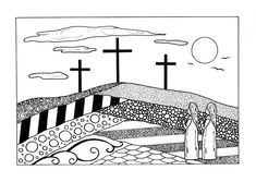This FREE coloring page would be a good activity to do at a Bible study, with the family over Easter weekend, or simply as a way to reflect on any Sunday of the year. #FaveCrafter #coloring #adultcoloring