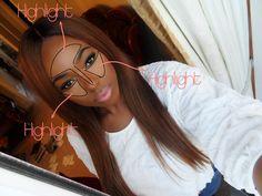 How+I+highlight+with+makeup+diagram