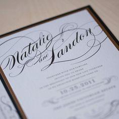 Vintage Glam Wedding Invitation, winter wedding invitation, script invitation, formal invitation on Etsy, $6.00