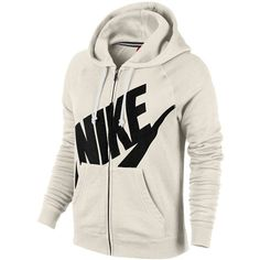 Nike Rally Full Zip Hoodie Women's ($40) ❤ liked on Polyvore featuring nike