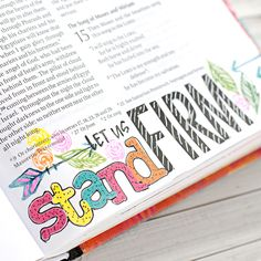 Let us stand firm Scripture Art, Bible Art, Bible Prayers, Bible Scriptures, Bible Study Journal, Scripture Journal, Art Journaling, Bible Illustrations, Faith Bible