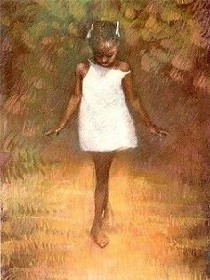 Brenda Joysmith Barefoot Dreams..i have this pic..received when I was a little girl from mrs. royster...r.i.p.;)