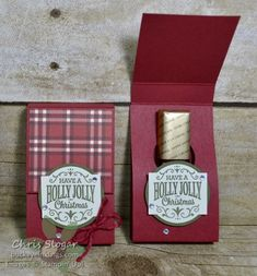 Inspired by all of the seasonal goodies in the aisles of Target, I made three types of favors last Christmas Treat Bags, 3d Christmas, Christmas Gift Box, Stampin Up Christmas, Christmas Cards, Christmas Chocolate, Handmade Christmas, Merci Chocolate, Chocolate Gifts