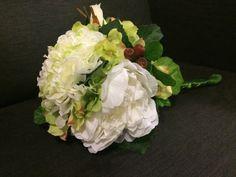 Garden bridal bouquet by dahliasanddaydreams on Etsy